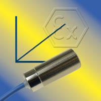 Sensor capacitivo de proximidad con salida analógica y certificado ATEX / IECEx para Zone 0 y 20