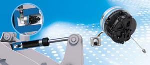 SGH25: codificador accionado por cable como sensor de posición integrado para cilindros hidráulicos de hasta 2,5 m